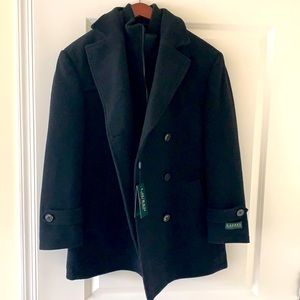Ralph Lauren Men's Black Overcoat